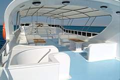 Upper Deck on M/Y Discovery Liveaboard Diving Motor Yacht in Marsa Alam Egypt