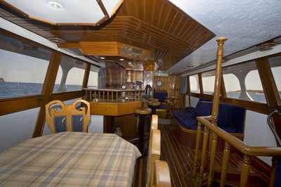 Dining area on King Snefro 3 Liveaboard Diving Motor Yacht in Sharm el Sheikh Egypt