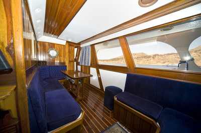 Interior Salon of King Snefro 3 Liveaboard Diving Motor Yacht in Sharm el Sheikh Egypt