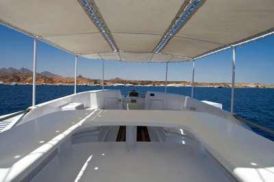 Top Sun Deck on King Snefro 6 Liveaboad Diving Motor Yacht in Sharm el Sheikh Egypt