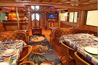 Interior of M/Y Ocean Wave Liveaboard Diving Motor Yacht in Marsa Alam Egypt