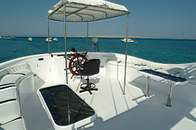 Sun Deck on M/Y Ocean Wave Liveaboard Diving Motor Yacht in Marsa Alam Egypt