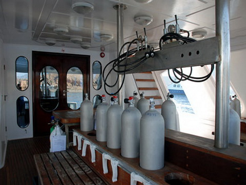 Dive Deck on M/Y Spirit Liveaboad Diving Motor Yacht in Sharm el Sheikh Egypt