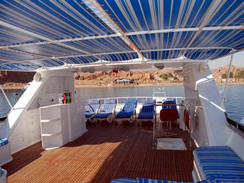Top Sun Deck on M/Y Spirit Liveaboad Diving Motor Yacht in Sharm el Sheikh Egypt