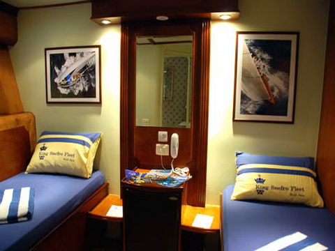 Double Cabin on M/Y Spirit Liveaboad Diving Motor Yacht in Sharm el Sheikh Egypt